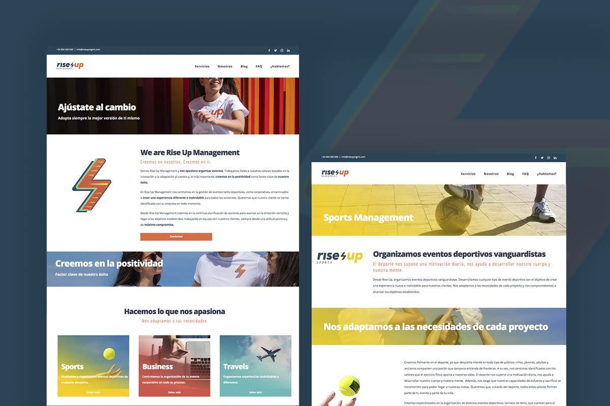 Diseño web para Rise Up Management