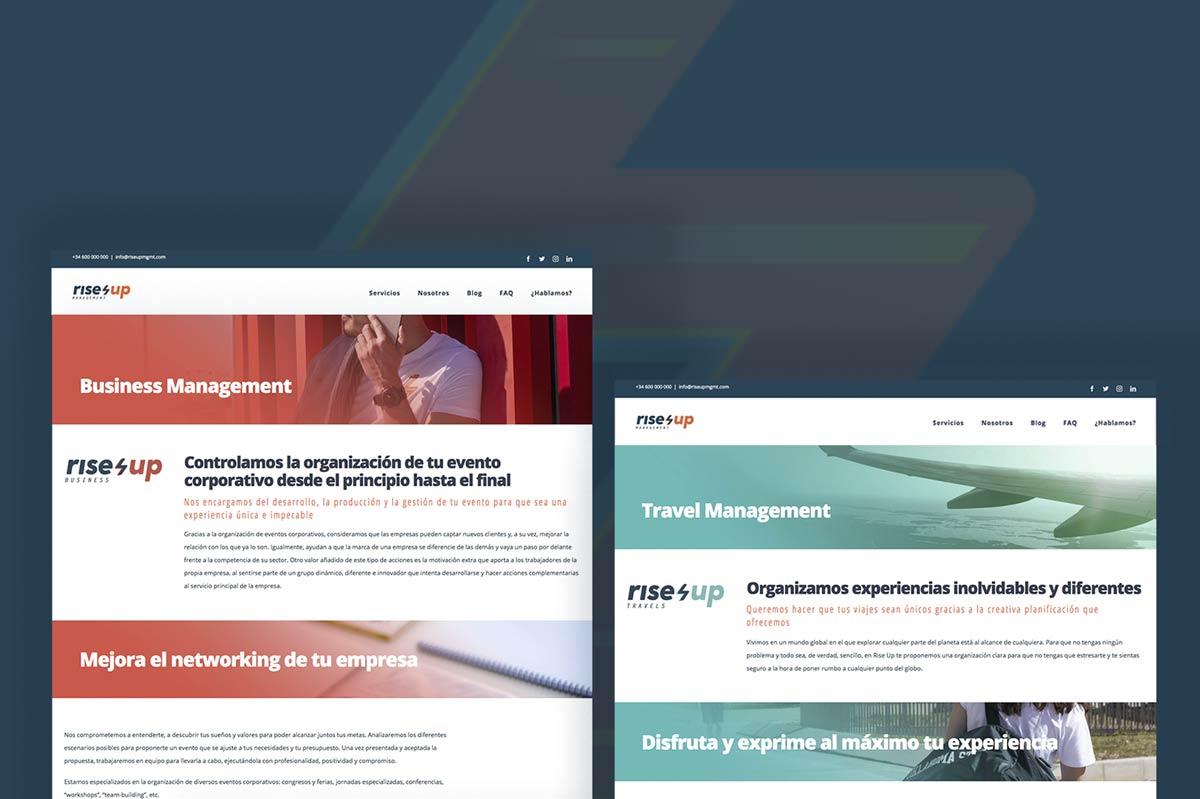 Diseño web para Rise Up Management
