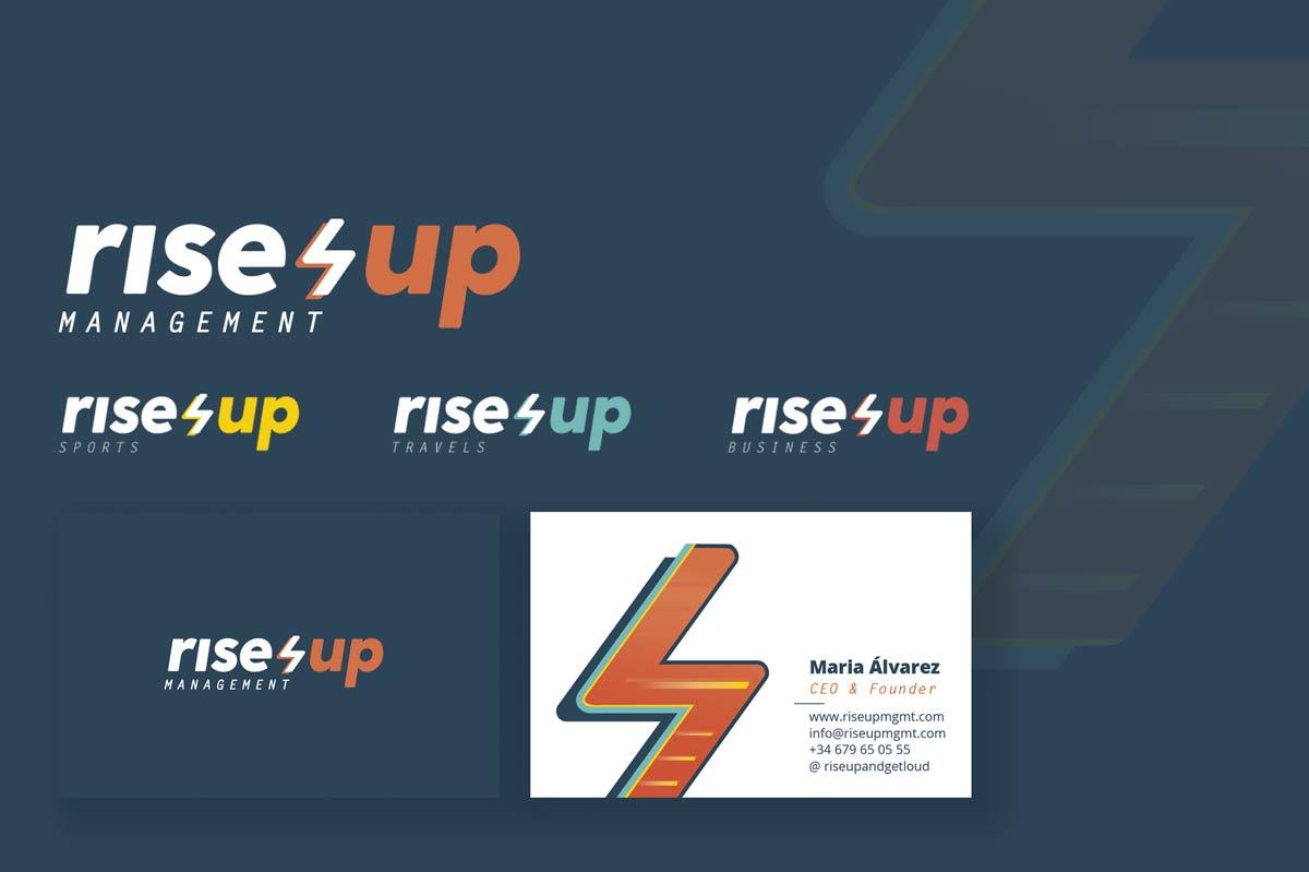 Diseño indentidad corporativa / logotipo RIse Up Management